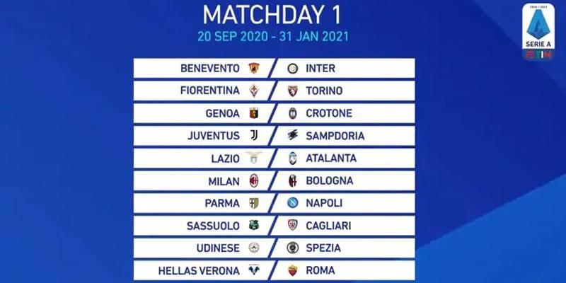 Le probabili formazioni della prima giornata di Serie A 2020/2021