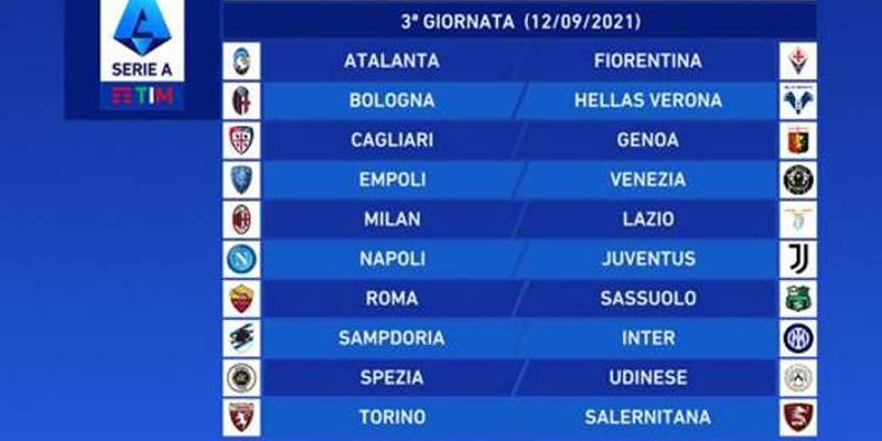 Terza giornata di Serie A 2021/2022: orari, dove vederle in TV e risultati